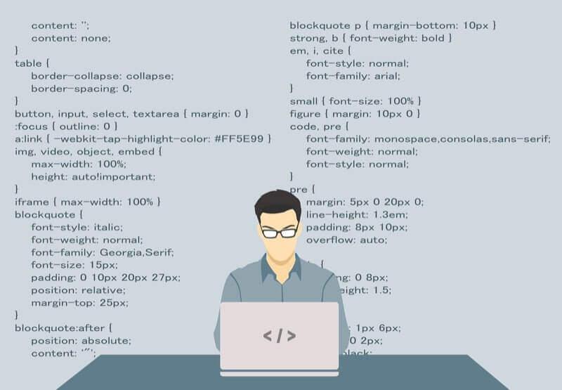 プログラムを書く男性アイコン